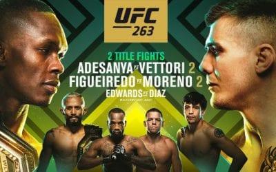 UFC 263: Adesanya vs. Vettori 2 Predictions & Fight Picks